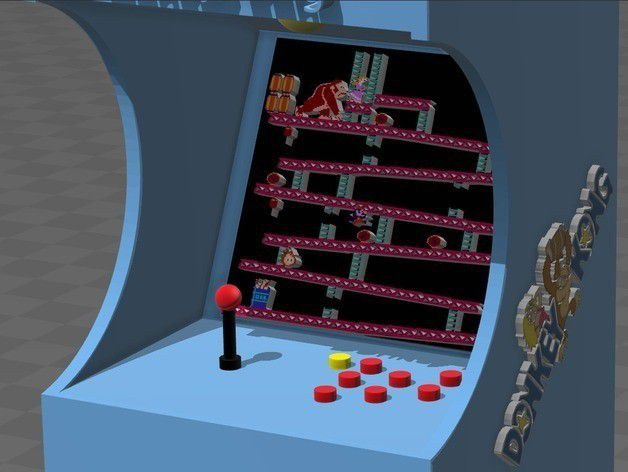 7bd1079a1d807d4918b18a9a9a5daac3_preview_featured.jpg Download free STL file Donkey kong arcade • Design to 3D print, tyh