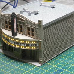 IMG_6726.JPG Download free STL file HO Scale Main Street Nine - Theater • 3D printing design, kabrumble