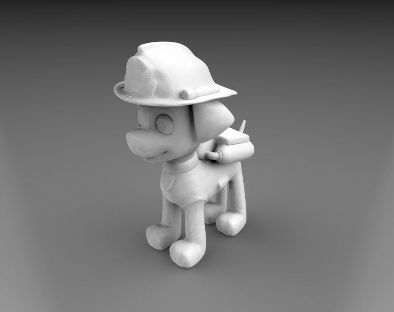 untitled.92.jpg Télécharger fichier STL PAW PATROL - Marshall • Plan pour impression 3D, MyMiniCraft