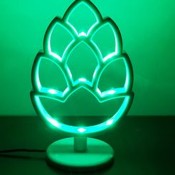 pic1.jpg Download STL file hop beer lamp with smd leds !!! • 3D printable object, maxibarac