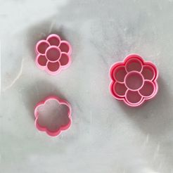 flower_cutters6petal.jpg Download STL file Flower Power Polymer Clay / Cookie Cutters • Object to 3D print, MomentoBespoke