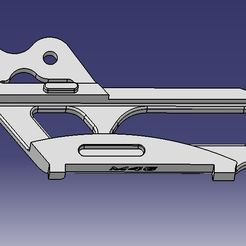Guide chaine D YZ YZF.jpg Download STL file Straight chain guide Yamaha YZ - YZF • 3D printer design, M46-parts