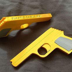 Snapchat-1098826493.jpg Download free STL file Rubber band gun - No assembly required! • 3D printing model, EJTH