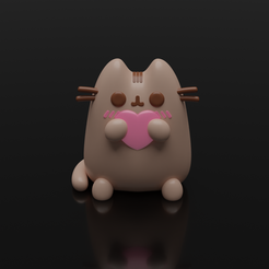 1.png Télécharger fichier STL Funko pop cat pusheen cat • Plan imprimable en 3D, leonespi