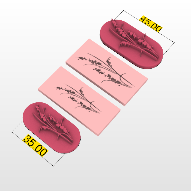 Screenshot_1.png Download STL file STAMP FOR POLYMER CLAY PRINTED IN 3D- flower silhouette-LORREN3D • 3D printing model, lorren3d