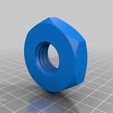 "chuck_pulley_tensioner_nut.png Download STL file CNC Lathe 450mm ""Iron worm"" • Template to 3D print, francescangelif"