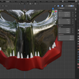jaw.png Download STL file Jaw for Predator mask • Template to 3D print, ShQarOk