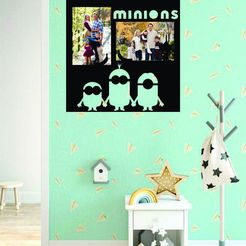 living minnions.jpg Download STL file Minnions photo frame • Model to 3D print, zafirah99
