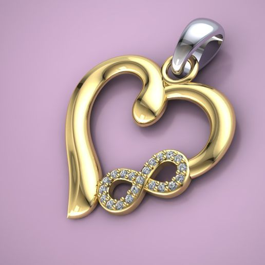r 2.jpg Download free STL file heart pendant woman jewelry • 3D printable object, Cadagency