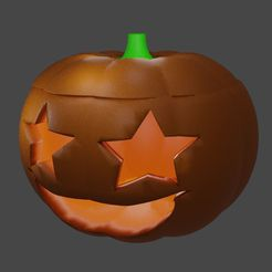pumppp.JPG Download STL file Pumpkin smile with star eyes • 3D print template, Aboutexodma