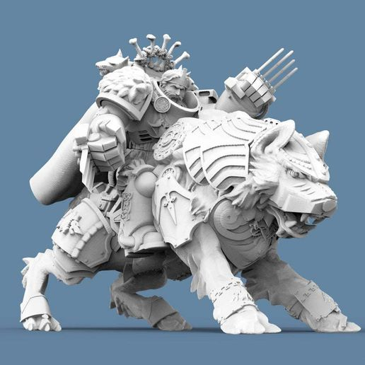 Wolf_Captain_2.jpg Download free STL file Viking Wolf Rider Captain • Template to 3D print, PoseidWorkshop