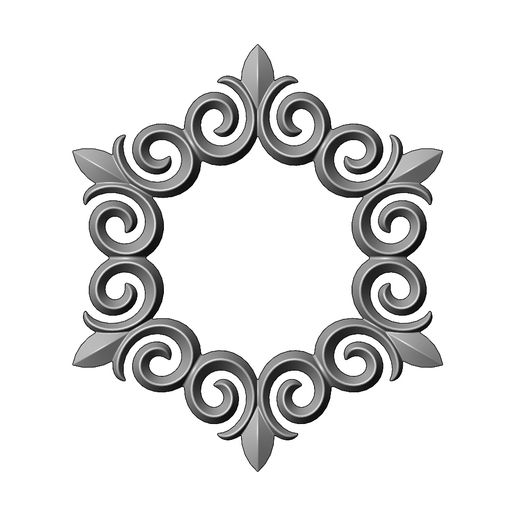 onlay20-00.JPG Download 3MF file Hexagonal floral decoration element relief 3D print model • 3D printing object, RachidSW