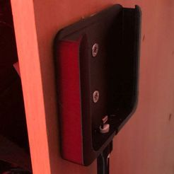 IMG_2291.JPG Download free STL file Iphone X wall-mounted load carrier • 3D printer object, calamarmou
