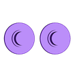 2-simple_bearing-caps.stl Download free STL file I Corazón <3 Valentine adaptable (pick-a-weight) Fidget Spinner • Object to 3D print, Lucina
