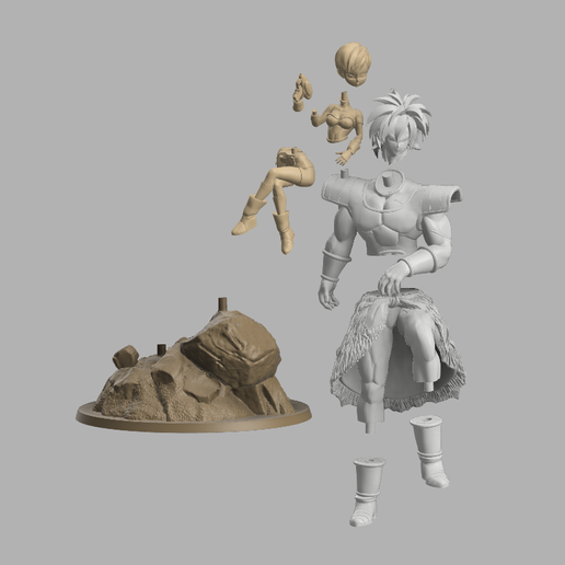 Annotation 2020-09-03 174422.png Download STL file Chirai and Broly  • Model to 3D print, DBZmodel