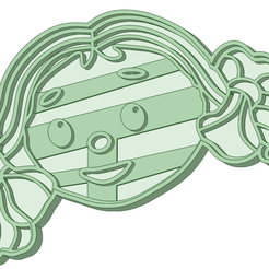Cabeza_e.png Download STL file Loopy Loo face cookie cutter • 3D printable template, osval74
