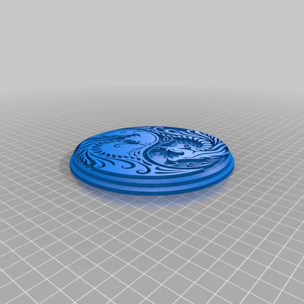 yinyang_dragon.png Download free STL file 2d art transformed into 3d art • 3D printer design, bigj121