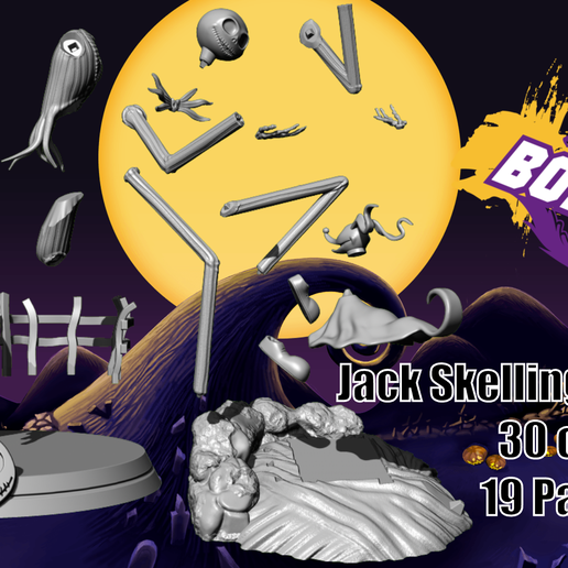 vente 2 full.png Download file Jack Skellington And Zero - The Nightmare Before Christmas • 3D printing template, BODY3D