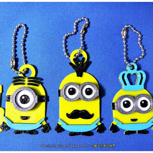 minion_21.jpg Download free STL file Minions Keychain / Magnets - Father's Day cute version • Design to 3D print, mingshiuan