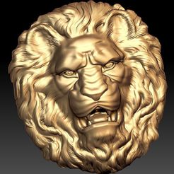 92.jpg Download free STL file Lion bust art cnc • Object to 3D print, 3Dprintablefile