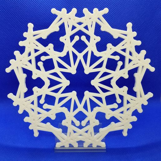 20191222_212826.jpg Download STL file Snowflakes with Stand • 3D print object, abbymath