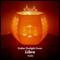 Zodiac_LIBRA_mix_original_2.jpg Download STL file Libra (Scales) Zodiac Tealight Cover • 3D printable template, c47