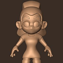 d.jpg Download STL file Ariana Grande chibi • 3D printer object, MatteoMoscatelli