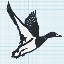 0.png Download free STL file Duck in flight • 3D printable design, oasisk