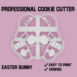 easter bunny cookie cutter.jpg Download STL file Easter bunny Cookie cutter • Design to 3D print, Cookiecutters