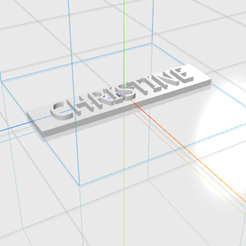 CHRISTINE.png Download STL file CHRISTINE letters • Model to 3D print, 3D_Names