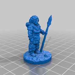 IA_femme_stand_spear.png Download free STL file Ice Age Spearwoman • Object to 3D print, Ellie_Valkyrie
