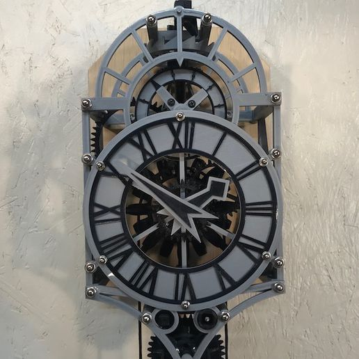 frontFull.jpg Download free 3MF file Christian Huygens 3D printed clock • Design to 3D print, JacquesFavre