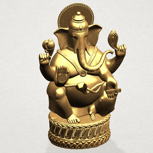 Ganesha A08.png Download free STL file Ganesha 01 • 3D printing template, GeorgesNikkei