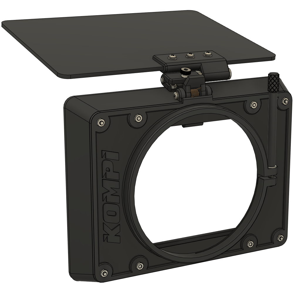 finished.png Download STL file Kompi v3 | the 3D printable clamp-on mattebox • 3D printing object, LucMeister