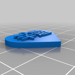 cindy_chinese_heart_pendent.png Download free STL file Chinese text Cindy heart pendent • Design to 3D print, ajory
