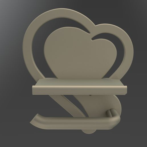 PORTA-CARTA-IGENICA-ALLUMINIO-FRONTALE.jpg Download STL file HYGIENIC PAPER HOLDER FOR STAMPA 3D BASE 220MM • 3D print object, Special3d