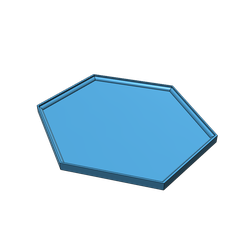 HexCoaster.png Download free STL file Hexagon Coaster • 3D print object, drbts33