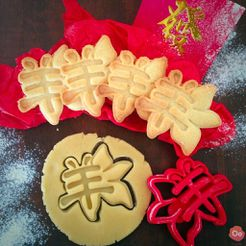 IMG_8402.jpg Download free STL file Chinese New Year 2015 Flower Cookie cutter • 3D printing model, OogiMe
