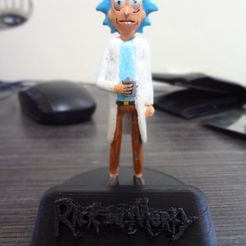 DSC00734.JPG Download free STL file Rick and Morty Base / Stand Collectible Figure • 3D print object, Pablo_osorio12