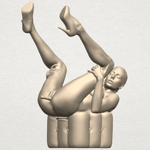 TDA0291 Naked Girl B08 A03.png Download free file Naked Girl B08 • Model to 3D print, GeorgesNikkei