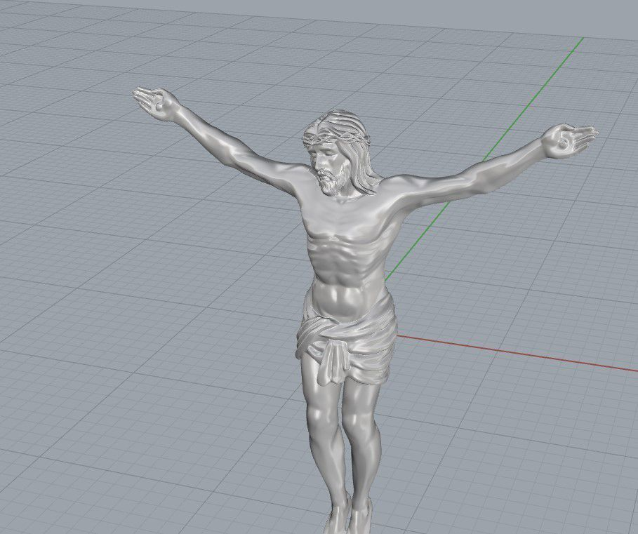 Screenshot_2.jpg Download free STL file Jesus pendant jewelry cross pray christian 3D print model • 3D printing model, Cadagency