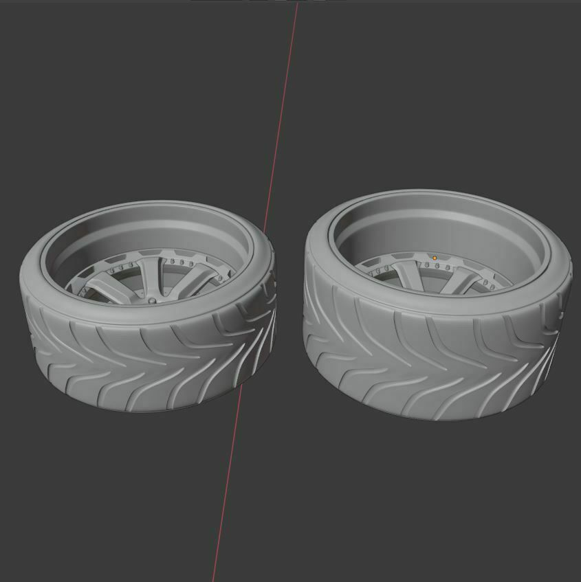 e2.JPG Download STL file VST Street wheel set - Front and rear with tires for diecast and RC • 3D print object, BlackBox