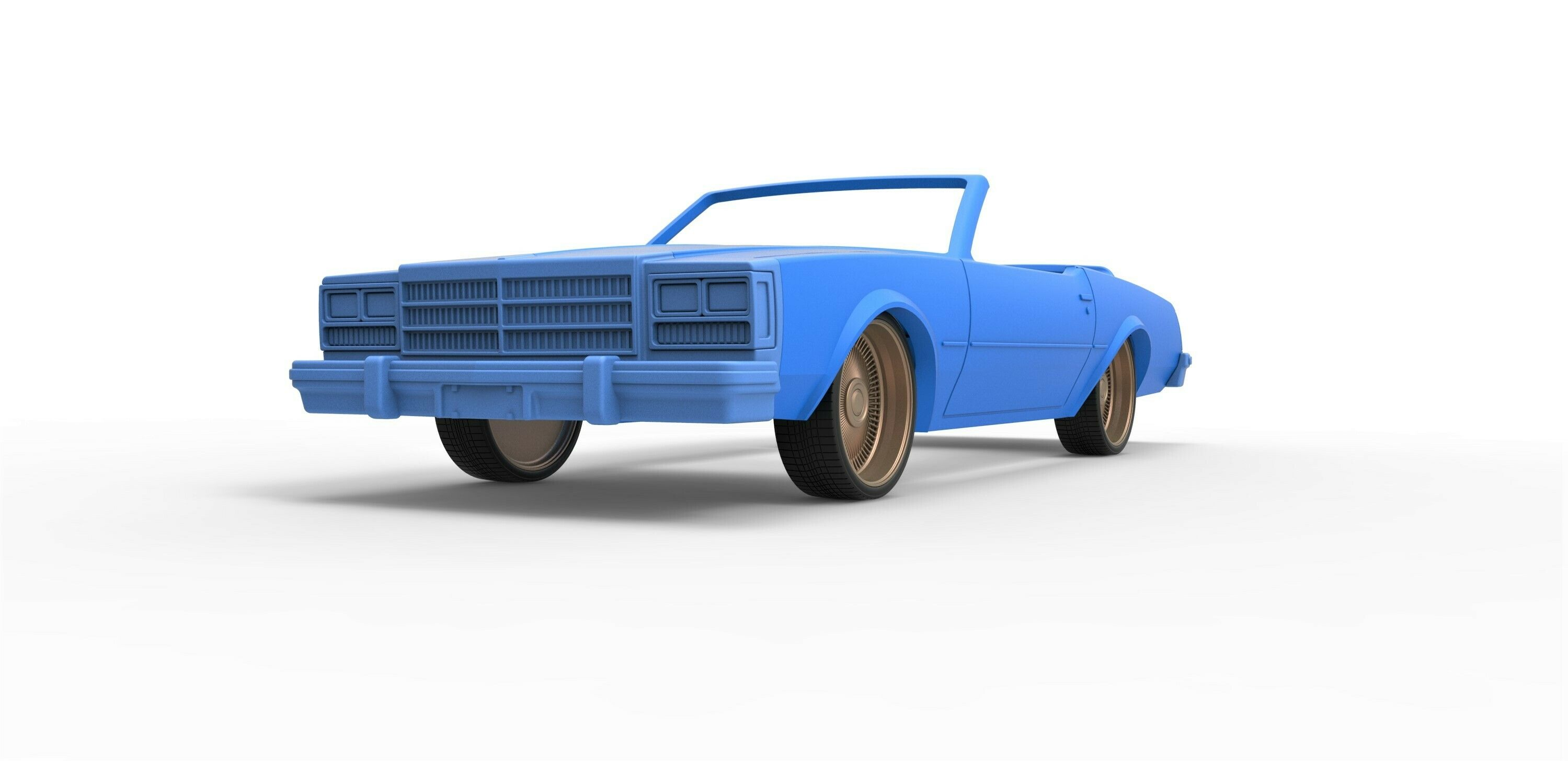 5.jpg Download STL file Diecast shell and wheels Buick Regal 1977 cabriolet Scale 1:25 • 3D printable design, CosplayItemsRock