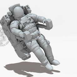 Bildname007.jpg Download free STL file NASA Astronaut With Manned Maneuvering Unit • 3D printable design, MaxGrueter