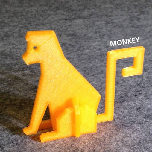 F.png Download free STL file Simple Animals 7 • Template to 3D print, Eunny