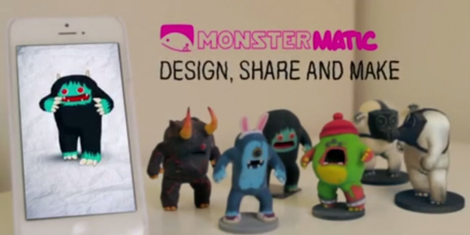 Monstermatic, the monsters to customize and print in 3D