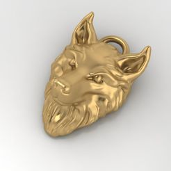 1.jpg Download free STL file Wolf pendant Jewelry medallion 3D print model • 3D printable object, Cadagency