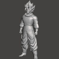 1.png Download STL file Son Goku Yadrat Super Saiyan 3D Model • 3D printer template, lmhoangptit