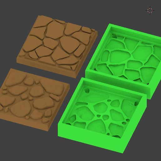 molds.JPG Download free STL file 25mm Dungeon Tile Molds for Bakeable Clay V2 • 3D print design, Mehdals