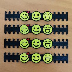 smiles - 4.jpg Download STL file EMOTICONS, Smiles - Ear Saver - Mask Strap  • 3D printer template, helderbernardo